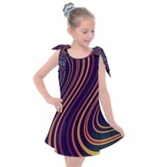 Fractal Mathematics Generated Kids  Tie Up Tunic Dress by Bajindul