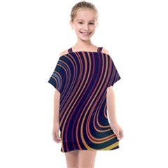 Fractal Mathematics Generated Kids  One Piece Chiffon Dress by Bajindul