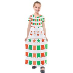 Christmas Bunting Banners Tasse Kids  Short Sleeve Maxi Dress by Bajindul