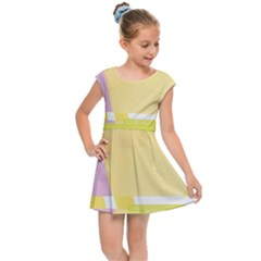 Geometric Botany Brochure Kids  Cap Sleeve Dress by Bajindul