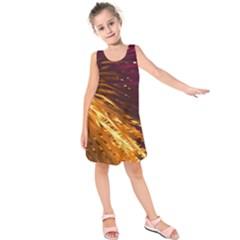 Lines Curlicue Fantasy Colorful Kids  Sleeveless Dress by Bajindul
