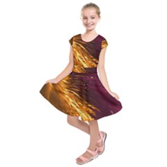 Lines Curlicue Fantasy Colorful Kids  Short Sleeve Dress by Bajindul