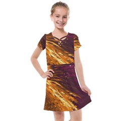 Lines Curlicue Fantasy Colorful Kids  Cross Web Dress by Bajindul
