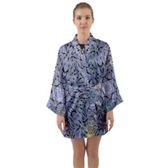 Mosaic Pattern Long Sleeve Kimono Robe by Bajindul