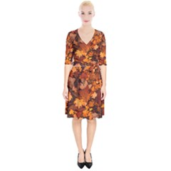 Fall Foliage Autumn Leaves October Wrap Up Cocktail Dress