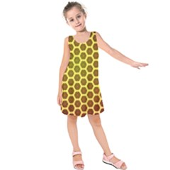 Digital Art Art Artwork Abstract Yellow Kids  Sleeveless Dress by Pakrebo