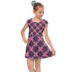 Purple Pattern Texture Kids  Cap Sleeve Dress by HermanTelo