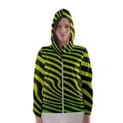 Wave Green Women s Hooded Windbreaker by HermanTelo