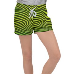 Wave Green Women s Velour Lounge Shorts by HermanTelo