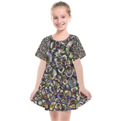 Circle Plasma Artistically Abstract Kids  Smock Dress by Bajindul