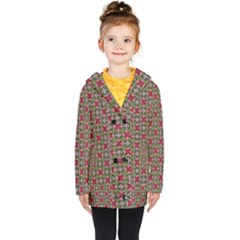 Decorative Flower Kids  Double Breasted Button Coat by Bajindul