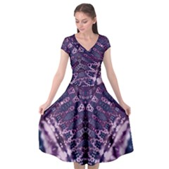 Purple Love Cap Sleeve Wrap Front Dress by KirstenStar