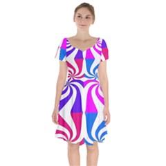 Candy Cane Short Sleeve Bardot Dress