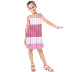 Fabric Geometric Texture Kids  Sleeveless Dress by Bajindul