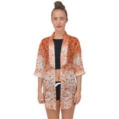 Scrapbook Orange Shades Open Front Chiffon Kimono by HermanTelo