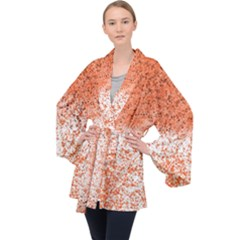 Scrapbook Orange Shades Velvet Kimono Robe by HermanTelo