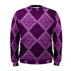 Purple Pattern Men s Sweatshirt