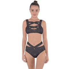 Floral Flowers Flourish Decorative Bandaged Up Bikini Set  by Pakrebo