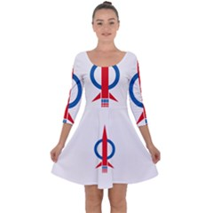 Flag Of Malaysia s Democratic Action Party Quarter Sleeve Skater Dress by abbeyz71