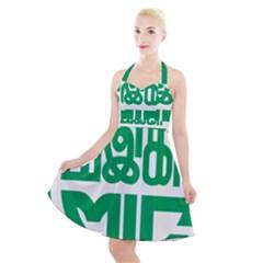 Logo Of Malaysian Indian Congress Halter Party Swing Dress  by abbeyz71