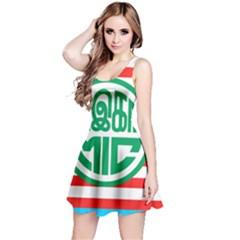 Flag Of Malaysian Indian Congress Reversible Sleeveless Dress by abbeyz71