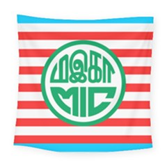 Flag Of Malaysian Indian Congress Square Tapestry (large) by abbeyz71