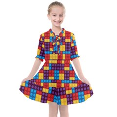 Lego Background Game Kids  All Frills Chiffon Dress by Mariart