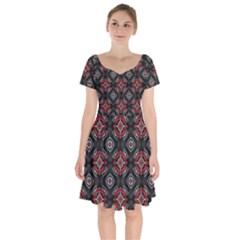 Pattern Star Short Sleeve Bardot Dress by AnjaniArt