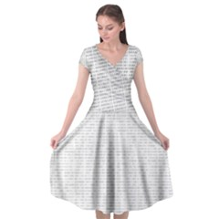 Binary Background Cap Sleeve Wrap Front Dress by Bajindul