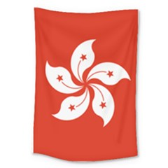 Flag Of Hong Kong Large Tapestry by abbeyz71