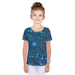 Light Blue Medieval Flowers Kids  One Piece Tee by bloomingvinedesign