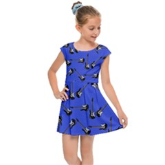 Guitar Instruments Music Rock Kids  Cap Sleeve Dress by Bajindul