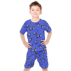 Guitar Instruments Music Rock Kids  Tee And Shorts Set by Bajindul