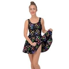 Scissors Pattern Colorful Prismatic Inside Out Casual Dress by HermanTelo