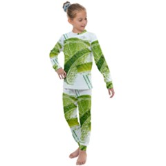 Lime Club Soda Drink Cocktail Kids  Long Sleeve Set  by Pakrebo
