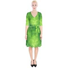 Pagan Mandala Seamless Tileable Green Wrap Up Cocktail Dress