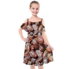 Dates Fruit Sweet Dry Food Kids  Cut Out Shoulders Chiffon Dress