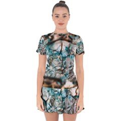 Water Forest Reflections Reflection Drop Hem Mini Chiffon Dress