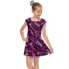 Art Artistic Design Pattern Kids  Cap Sleeve Dress by Pakrebo