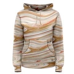 Brown And Yellow Abstract Painting Women s Pullover Hoodie