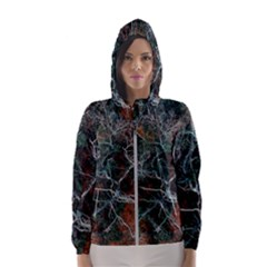 Aerial Photography Of Green Leafed Tree Women s Hooded Windbreaker by Pakrebo