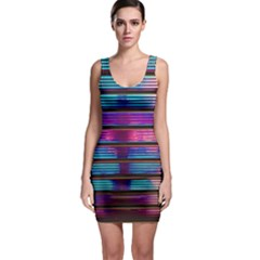 Blue And Pink Wallpaper Bodycon Dress