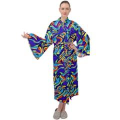 Ml-c6-1 Maxi Tie Front Velour Kimono by ArtworkByPatrick