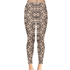 Texture Tissue Seamless Plaid Leggings