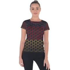 Germany Flag Hexagon Short Sleeve Sports Top