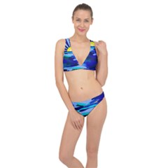 Sunset On The Lake Classic Banded Bikini Set  by bloomingvinedesign