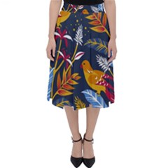 Colorful Birds In Nature Classic Midi Skirt by Wmcs91
