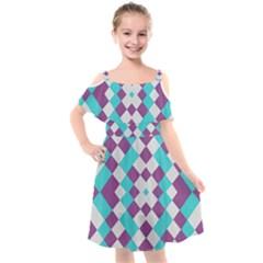Texture Violet Kids  Cut Out Shoulders Chiffon Dress by Alisyart