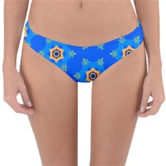 Pattern Backgrounds Blue Star Reversible Hipster Bikini Bottoms