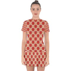 Hexagon Polygon Colorful Prismatic Drop Hem Mini Chiffon Dress by HermanTelo
